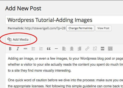Adding Images to WordPress Posts